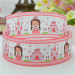 "3 metre 7/8"" Princess Grosgrain Ribbon - Royal Princess Hair Bow Supplies Ribbon"