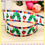 "2 metre 7/8"" Apple Caterpillar Grosgrain Ribbon - Hair Bow Supplies Ribbon"