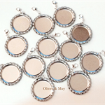 "10 x Flattened 1"" Bottle Caps With Holes 6mm Rings & Lobster Clasps Linerless"