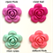 10 x Silicone Flower Beads
