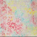 Cotton batik fabric pink fusion
