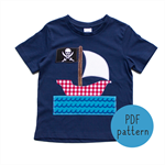 Pirate Ship - Appliqué pattern - PDF