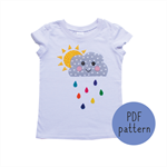 Happy Cloud - Appliqué pattern - PDF
