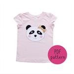Glitzy Panda - Appliqué pattern - PDF