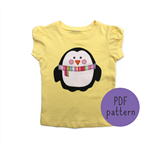 Penguin - Appliqué pattern - PDF