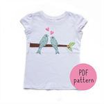 Love Birds - Appliqué pattern - PDF