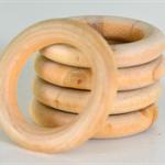 Wooden Maple Ring - 40mm Bulk Buy x 50