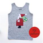 Santa - Appliqué pattern - PDF