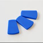 Silicone Trapezoid Beads - Bulk - Blue x 30