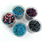 5 pots of seed beads- Blues and Pinks
