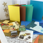Card Making Pack- Gold and Blues