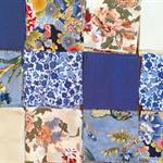 120 Cotton Fabric Squares - Blues