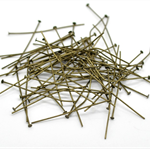 50 PCs Antique Bronze Head Pins 45mm,0.7mm