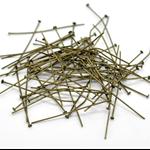 50 PCs Antique Bronze Head Pins 45mm,0.7mm (21 Gauge)