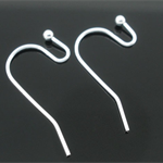 20 Silver Plate Earring Wires/ Hooks (10 pairs)