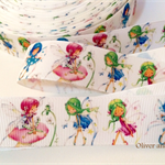 "2 Yards Fairies Grosgrain Ribbon Hairbow Cake Ribbon 1"" 25mm FREE POSTAGE"