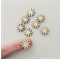 8 x 15mm Daisy Flower Wooden Embellishments