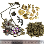 Charms Findings Pack - Antique Gold