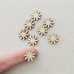 8 x 15mm Daisy Flower Wooden Embellishments