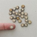 10 x 10mm Daisy Flower Wooden Embellishments