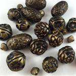 20+ Bronze Acrylic Beads