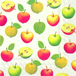 3 Paper Napkins for Decoupage Juicy Apples