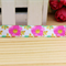 Pink Floral - Fold Over Elastic- FOE-  2 metres- Foldover Print Elastic-