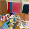 Card Making Pack- Red and Blue