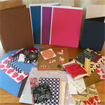 Card Making Pack- Gold, Red and Black