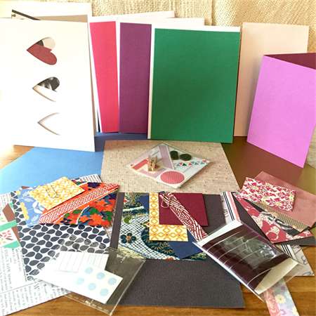 Card Making Pack- Pinks and Green
