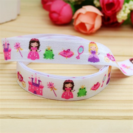 Princesses FOE- 5/8 inch 16mm - Foldover Elastic Hair Ties Headbands Free Post