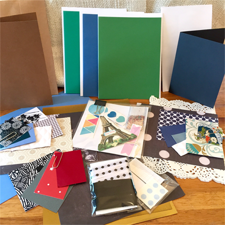 Card Making Pack- Greens and Blues