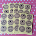 "36 x Kraft ""Thank You"" sticker label"