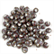 Handmade polymer clay beads - brown and white