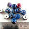 100 x multicoloured 12mm Acrylic beads