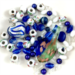 Mixed bead pack- Blues and Greens
