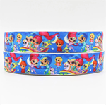 "2 Yards Shimmer and Shine Grosgrain Ribbon Hairbow Cake 7/8"" 22mm FREE POSTAGE"