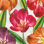 3 Paper Napkins for Decoupage / Parties / Weddings - Tulips