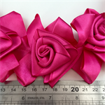 Large Hot Pink Ribbon Rosettes x 15