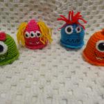 Amigurumi Pattern PDF -  Monster Key Ring/Bag Tags - Crochet Pattern