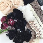 Fabric flowers and lace- remnant pack