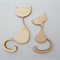 6 x Wooden Embellishment Cats