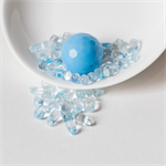 Dyed Quartz Teardrops with Facetted Blue Disco Ball