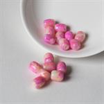 Splatter Watercolour Beads in Pink & Yellow – 10x8 millimetres