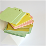 🔴BULK (50) Pastel Gelati Large Gift Tags Unthreaded DIY Wedding Engagement