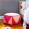 Hexagon Pouf PDF Sewing Pattern Hexagonal Patchwork Ottoman Pattern