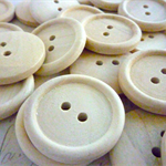Wooden Buttons, One Inch Round Wood Buttons, Pack of 20