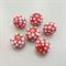 6 Spotty Glass Beads