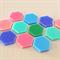 12 Hexagon Acrylic Laser cut Cabochons
