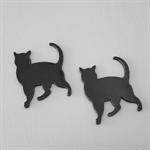 Black Cat Laser cut Acrylic Pendant 2pc
